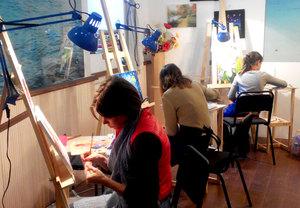 Майстер клас з живопису олійними фарбами для дорослих