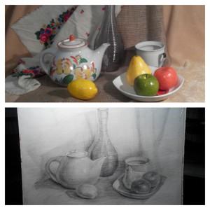 Рисунок карандашом в студии
