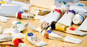 масляные краски в студии живописи ArtClass