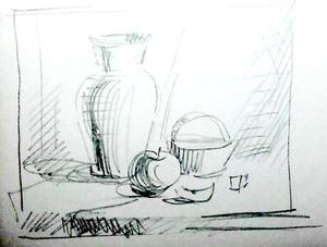 ескіз картини Натюрморт