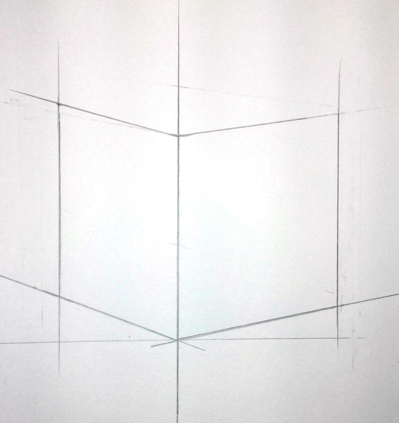Зображення верхніх ребер куба