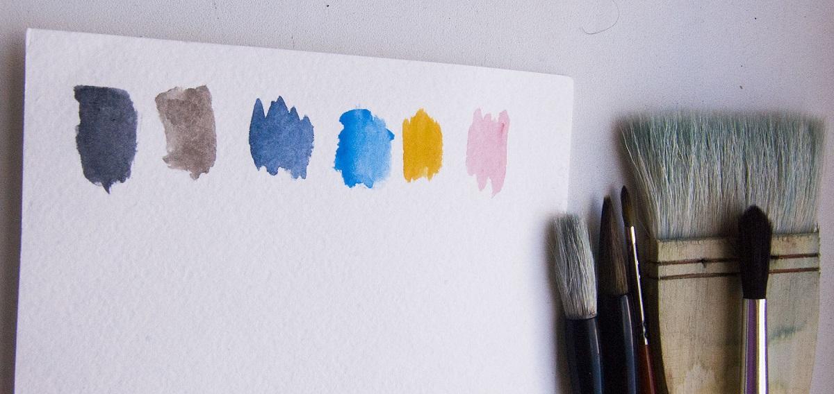 Материалы и инструменты для рисования акварелью