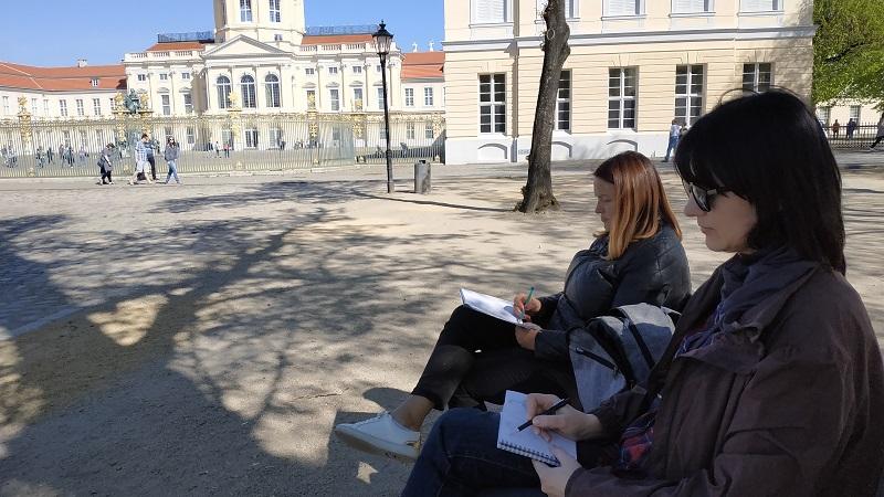 Берлин, дворец Шарлоттенбург. Быстрый скетч. в процессе рисования