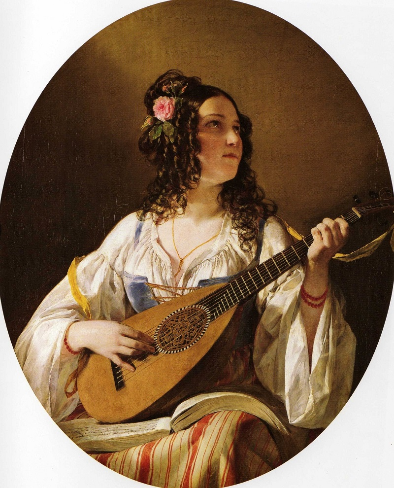 Лютнистка (Lute Player). Фридрих фон Амерлинг