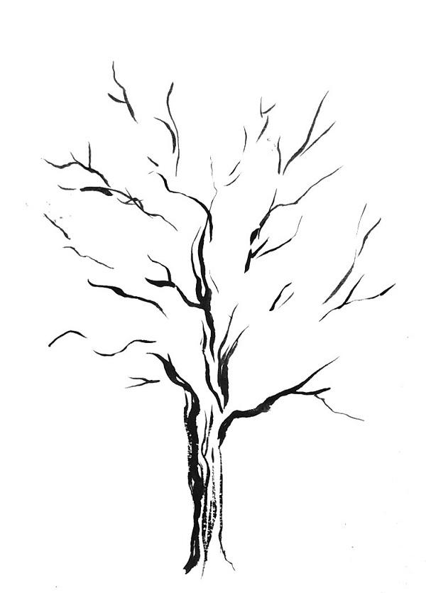 Рисування дерева за допомогою ліній