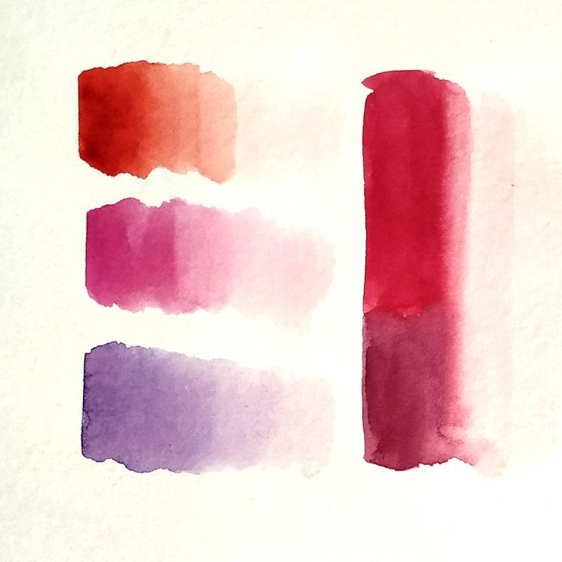 Смешивание оттенков красного и розового